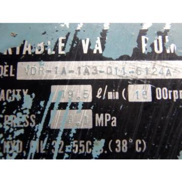 NACHI VARIABLE VANE PUMP_VDR-1A-1A3-Q11-6124A_VDR1A1A3Q116124A - USED
