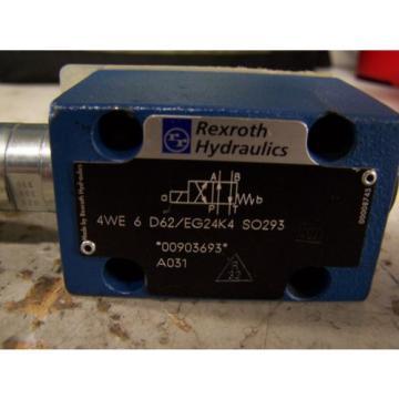 Origin REXROTH 4WE 6 D62/EG24K4 SO293 HYDRAULIC DIRECTIONAL VALVE