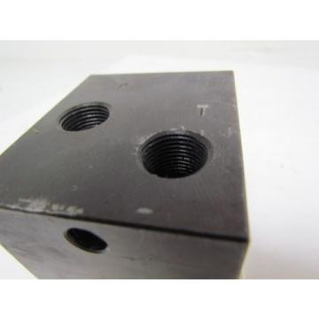 Nachi S-1491-5 Single Position Hydraulic Manifold / Valve Block