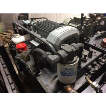 Nachi 5 HP Hydraulic Unit, Nachi Piston Pump # PVS-1B-22N1-U-2408P, Used