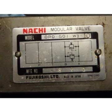 NACHI ORO-G01-W3-10 MODULAR HYDRAULIC VALVE