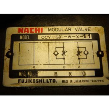 NACHI OCY-G01-W-X-11 FLOW REGULATOR MODULAR HYDRAULIC VALVE