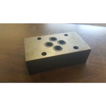 Nachi Hydraulic Valve Manifold Body, OK-G01-P-20, Used, WARRANTY
