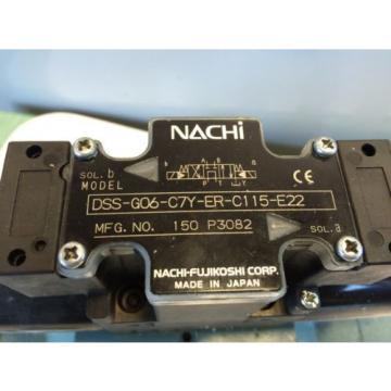 USED NACHI DSS-G06-C7Y-ER-C115-E22 HYDRAULIC DIRECTIONAL VALVE 150 P3082 BZA