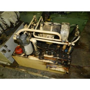 Nachi 3 HP Oil Hydraulic Unit, Nachi Variable Vane Pump VDR-11B-1A2-1A2-22, Used