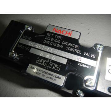 Nachi SS-G01-C1-R-D2-E30 D03 Hydraulic Directional Control Valve 24VDC