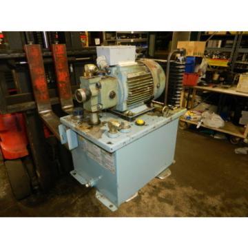 Nachi 2 HP 15 kW Hydraulic Unit, 220V, Nachi Pump UVN-1A-1A3-15-4-10, Used