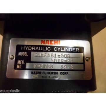 NACHI HYDRAULIC CYLINDER FJ-FAB1-50B-50TR-21  50mm BORE 50mm STROKE  NOS