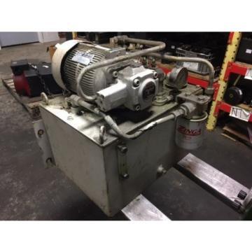 Nachi 2 HP 15kW Complete Hyd Unit, VDR-1B-1A2-21, UVD-1A-A2-15-4-1849A Used