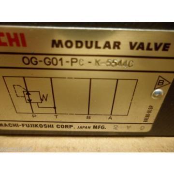 NACHI OG-G01-PC-K-5544C HYDRAULIC MODULAR VALVE ADJUSTABLE NOS