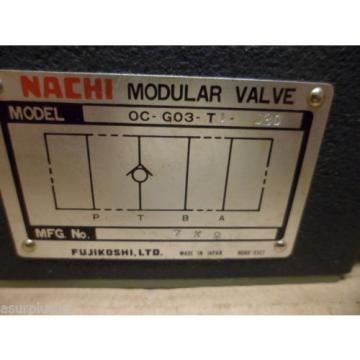 NACHI OC-G03-T1-J30 HYDRAULIC MODULAR VALVE NOS