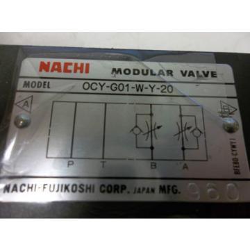 Origin NACHI OCY-G01-W-Y-20 MODULAR VALVE OCYG01WY20