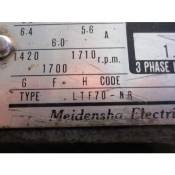 MEIDENSHA MEIDEN HYDRAULIC MOTOR LTF70-NR NACHI PUMP UPV-1A-16N0-15-4-2477A