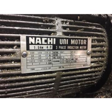 Nachi 2 HP 15kW Complete Hyd Unit w/ Tank, PVS-1B-16N1-2535A, Used, WARRANTY