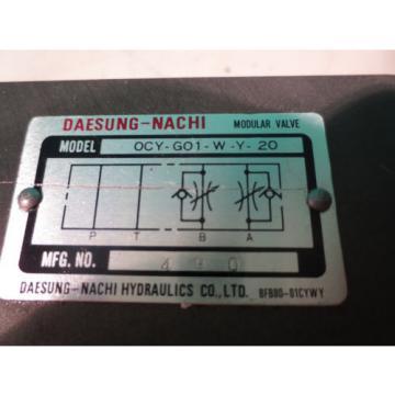 NACHI MODULAR VALVE OCY-G01-W-Y-20 480