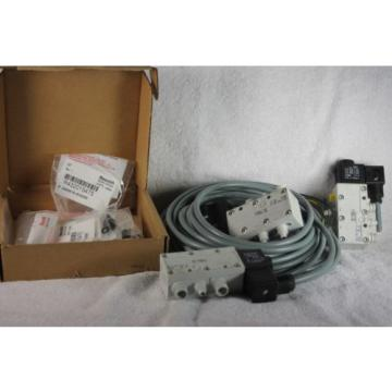 3 Rexroth valves with cords and fittings, #PW67697-1