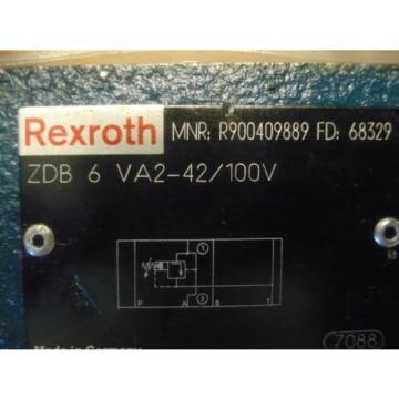 origin Rexroth R900409889 ZDB 6 VA2-42/100V ZDB6VA2-42/100 Valve