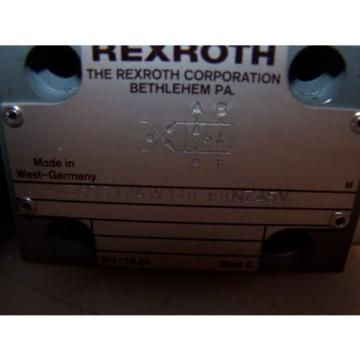 Origin REXROTH 4WE6D51/AW120-60NZ45V HYDRAULIC DIRECTIONAL CONTROL VALVE