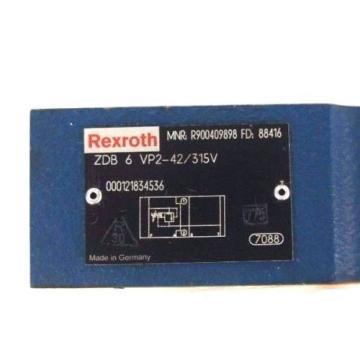 NEW Japan Canada REXROTH ZDB 6 VP2-42/315V VALVE MNR: R900409898 FD: 88416