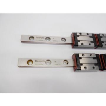 Pair Mexico Russia Rexroth 7210 R044289401 Dual Block + 185mm Slide Rail