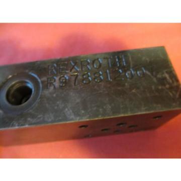 Rexroth R978812007 Hydraulic Valve Assembly