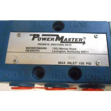 REXROTH, POWERMASTER, PNEUMATIC DIRECTIONAL VALVE, PT34101-0300, L1000