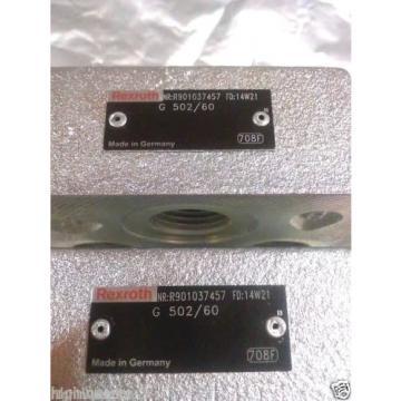 2 Each Bosch Rexroth R901037457 G502 / 60 Hydraulic Directional Control Valve