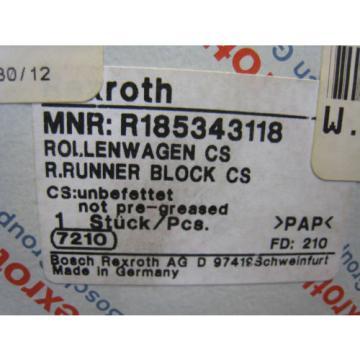 Bosch Rexroth R185343118 Ball Roller Rail Runner Block Linear Bearing Carriage