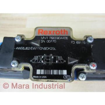 Rexroth Bosch R900904406 Valve 4WE6J62/EW110N9DK25L - origin No Box
