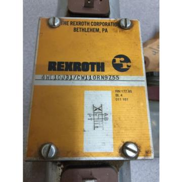 Origin REXROTH HYDRAULIC VALVE 4WE10J31/CW110RN9Z55