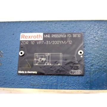 Origin BOSCH REXROTH R900509656 ZDR 10 VP7-31/200YM/12 DIRECTIONAL VALVE