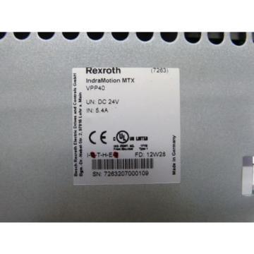 "Rexroth Australia Korea VPP40 / VPP40.3BIM-1G0NN-D1D-HN-NN-FW Indracontrol VPP 40 15"" Display"