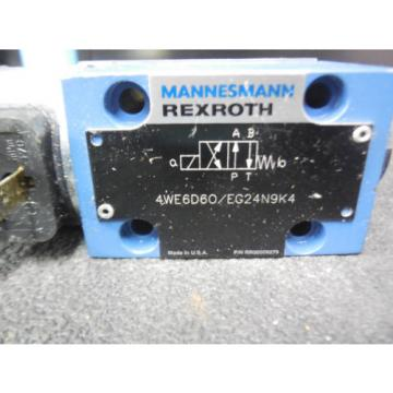 Origin REXROTH DIRECTIONAL VALVE # 4WE6D60/EG24N9K4