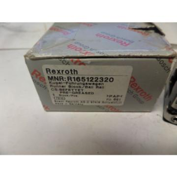 Rexroth Runner Block Ball Carriage Linear Bearing R165122320 origin