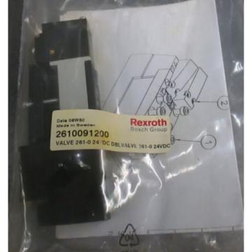Origin  UNUSED REXROTH BOSCH Group 261-009-120-0 PNEUMATIC Double VALVE 24VDC