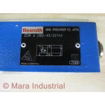 Rexroth Bosch R900449839 Valve ZDR 6 DB2-43/25YM - origin No Box