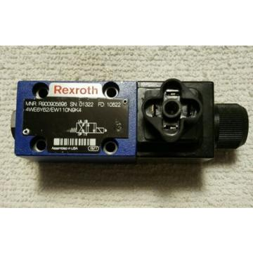 REXROTH Directional Control Valve R900905896 4WE6Y62/EW110N9K4 Used Ex Cond