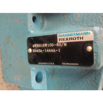 Origin REXROTH DIRECTIONAL CONTROL VALVE 4WRH16W100-60/M S043A-1444A-1