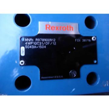 Origin REXROTH DIRECTIONAL CONTROL VALVE R978900912 # 4WP10C31/0F/12S043A-1504