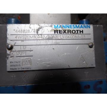 REXROTH SERVO VALVE # 4WRDE16V125-41/10L2Z9/M, 4WS2EM10-42/30B2ET315K0DM-53