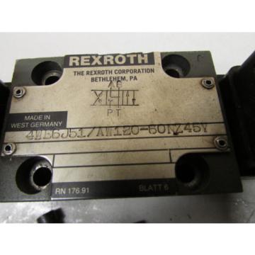Rexroth 4WE6J51 AW120-60NZ45V Hydraulic Valve