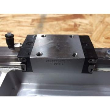 REXROTH  2 Rails  Guide Linear bearing CNC Route  21#034; L x 5#034; W