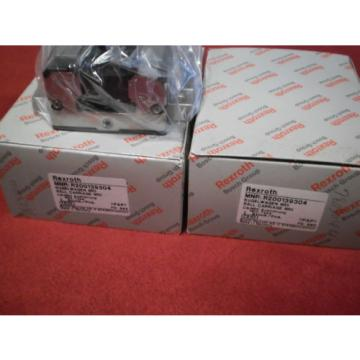 PAIR OF MNR R200139304 Bosch Rexroth Runner Block Ball Carriage Linear Bearing
