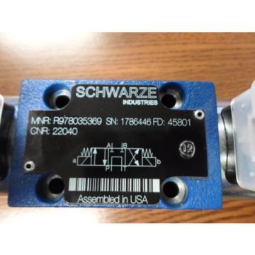 Rexroth Hydraulic Valve Schwarze sweeper 22040
