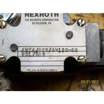 REXROTH VALVE 4WE6 4WE6JB5X/AW120-60 with REXROTH 120V 46VA , WU35-0-A
