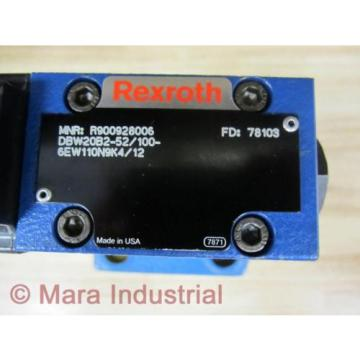 Rexroth Bosch R900928006 Valve DBW20B2-52/100-6EW110N9K4/12 - origin No Box