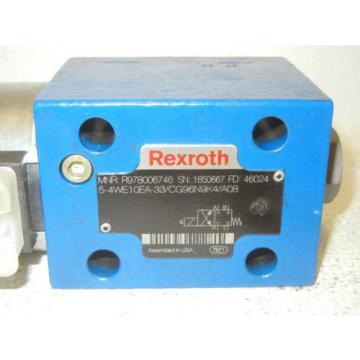 REXROTH Singapore Russia R978006746 NEW-NO BOX 5-4WE10EA-33/CG96N9K4/A08 VALVE R978006746
