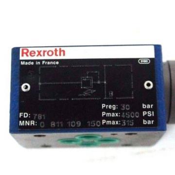 NIB REXROTH MNR: 0811109150 FD: 781 PRESSURE REDUCING VALVE 0-811-109-150